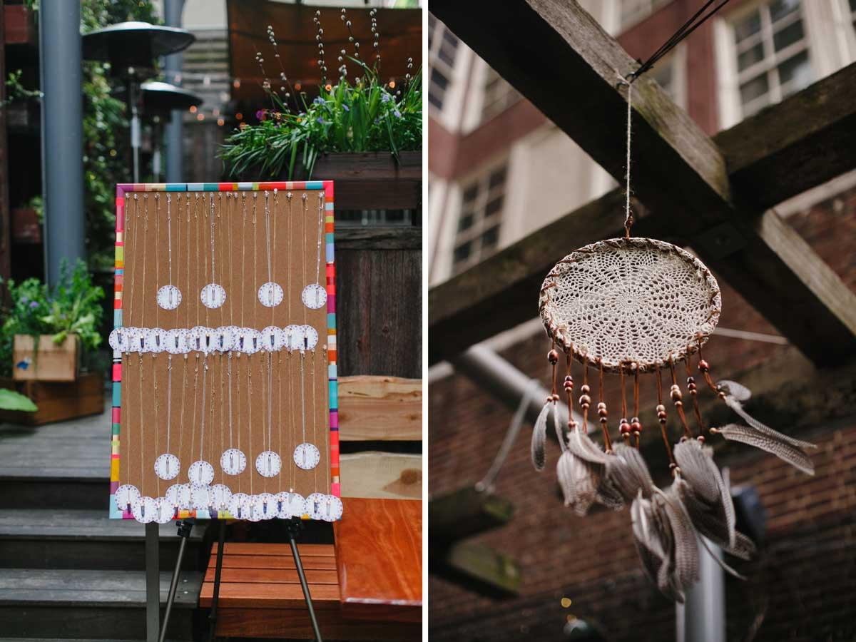 Dreamcatcher baby shower decoration
