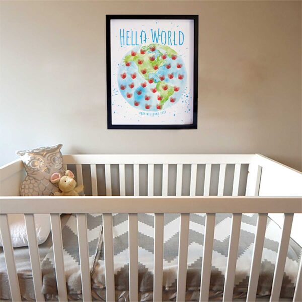 Hello World nursery art print by Hand-Painted Life